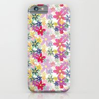 iPhone Cases featuring Blossoms in Bloom (Seamless Pattern) by JillthePill Design
