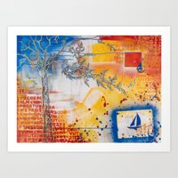 I'm On A Boat Art Print