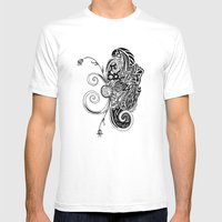 Spirit Of Spring B&W Mens Fitted Tee White SMALL