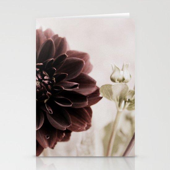 Dahlia - solitaire 122 Stationery Card