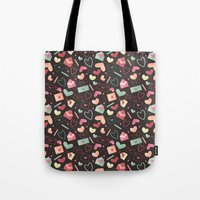 Love Letters Pattern Tote Bag