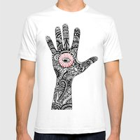 hand that feeds Mens Fitted Tee White SMALL