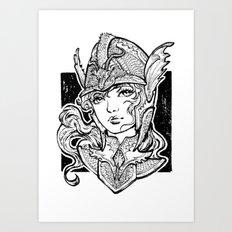 Iron Ladies Angelina Art Print