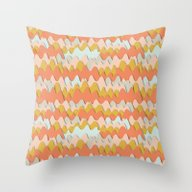 Colorful Waves Throw Pillow