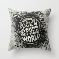 Keep On Rock'n!  Throw Pillow
