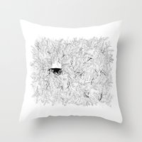 Where Are The Stagnant W… Throw Pillow