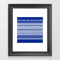 NAUTIC KNOTS: COBALT BLUE Framed Art Print