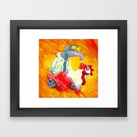 Gonzo With The Wind Framed Art Print