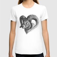 The mouflon G125 Womens Fitted Tee White SMALL