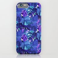 Palm Leaf Blue iPhone 6 Slim Case