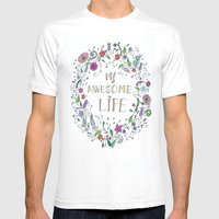 Awesome  Life Color Mens Fitted Tee White SMALL