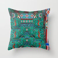 Eaves Of A Buddhist Temp… Throw Pillow