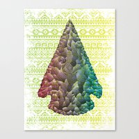 Neon Arrowhead Canvas Print