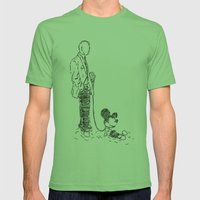 Walking the Dog Mens Fitted Tee Grass SMALL