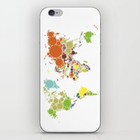 The World Goes Round & Round iPhone & iPod Skin