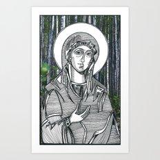 Madonna of the Birches Art Print