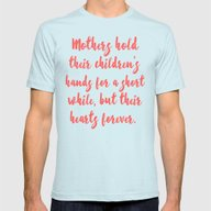 Mothers Hold Their Child… Mens Fitted Tee Light Blue SMALL