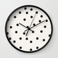 vintage dots 1 Wall Clock