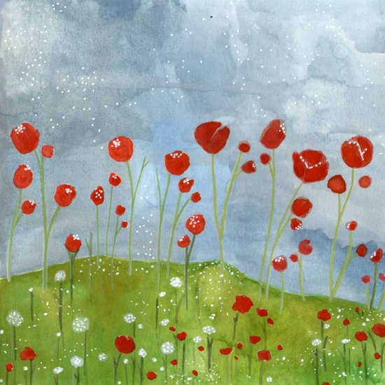 my dreams are only wishes // poppyfields Art Print