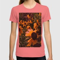 black eye susans Womens Fitted Tee Pomegranate SMALL