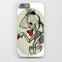 iPhone & iPod Case featuring Skull Bride by giuditta matteucci