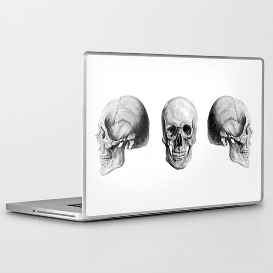 Graphite Skulls Laptop & iPad Skin