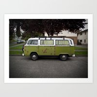 rust speckled in Freemont (Curbside VW photo series) Art Print