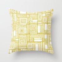 Golden Doodle patchwork Throw Pillow