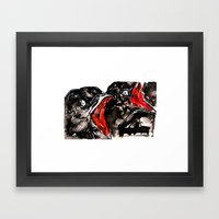 Crow Mouth Framed Art Print