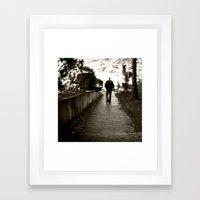 man on path i saw one afternoon Framed Art Print