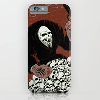 iPhone & iPod Case featuring Monkey Skull Suit by Killer Napkins