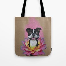 Zen Boston Terrier Tote Bag