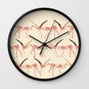 vanilla flamingos Wall Clock
