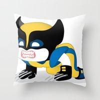 WOLVERINE ROBOTIC Throw Pillow
