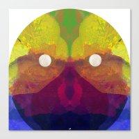 1000names - Sun In Aquarius Canvas Print