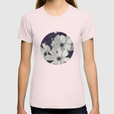 Friendly Flowers Womens Fitted Tee Light Pink SMALL