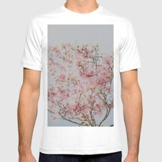 Pink Magnolias White Mens Fitted Tee SMALL