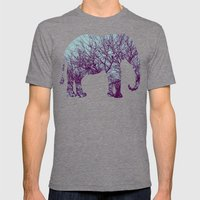 1000 Words on Twilight and Aubergine Mens Fitted Tee Tri-Grey SMALL