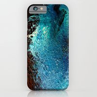Abstract blue, white and purple painting photography iPhone 6 Slim Case