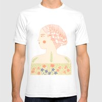 Portrait Of A Girl With … Mens Fitted Tee White SMALL