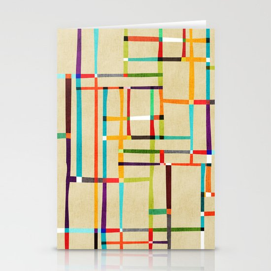 The map (after Mondrian) Stationery Card