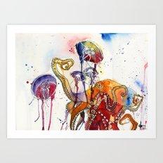 Garden of octopus Art Print
