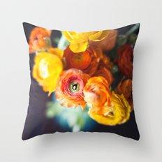 ranuculus Throw Pillow