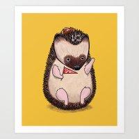 Sports Hedgehog Art Print
