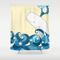 OH, WELL! OH, WHALE! Shower Curtain