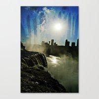 Niagara Creepy Falls  Canvas Print