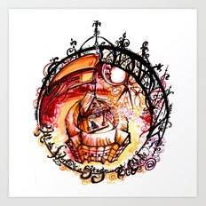 The Globe Theatre - All the World's A Stage Illustration Art Print