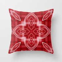 Pattern Red Throw Pillow