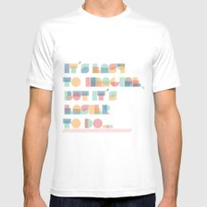 It's Easy to Imagine Mens Fitted Tee SMALL White