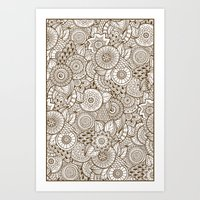 tribal Art Prints featuring Tribal by Ale Ibanez